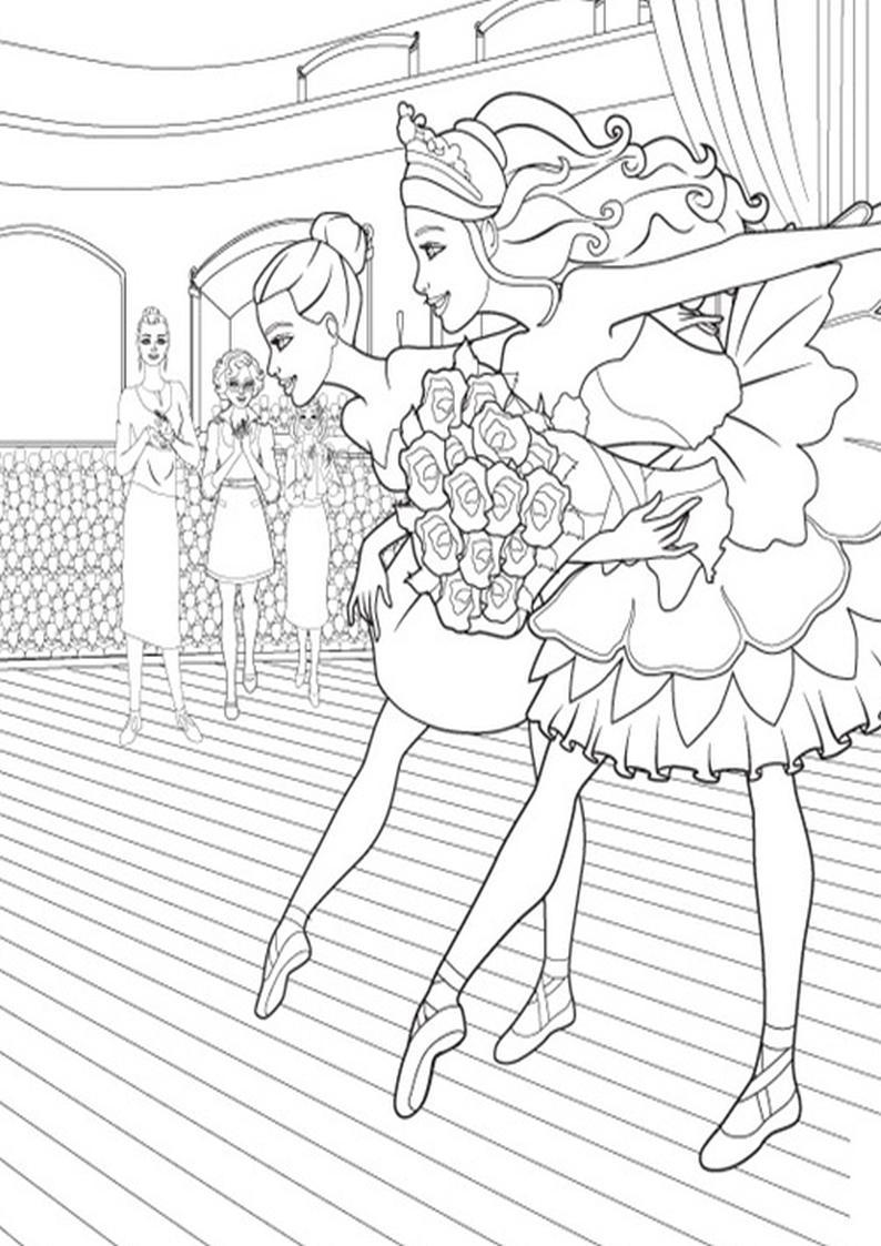 Kolorowanki Barbie Magiczne Baletki Obrazek Do Wydruku Nr 13