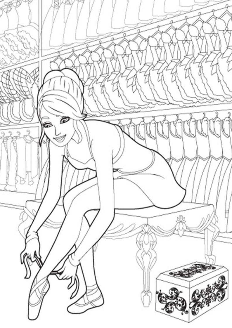 Kolorowanki Barbie Magiczne Baletki Obrazek Do Wydruku Nr 16