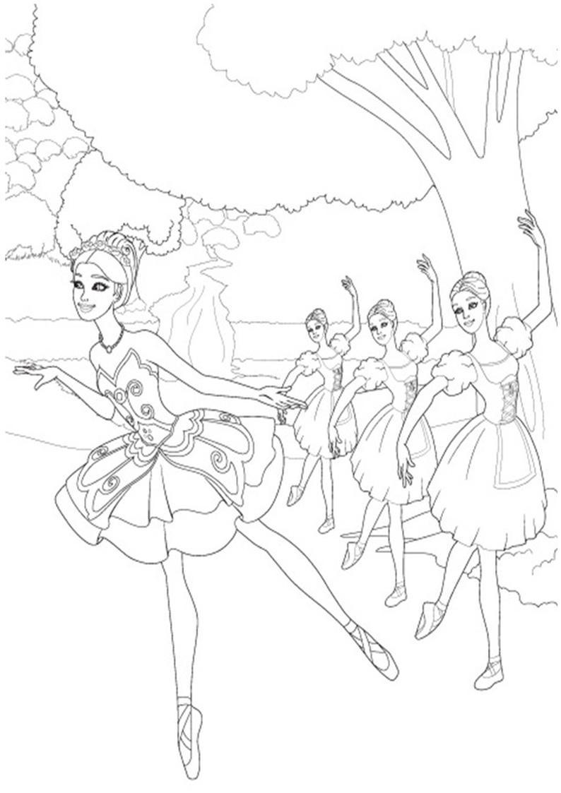 Kolorowanki Barbie Magiczne Baletki Obrazek Do Wydruku Nr 27