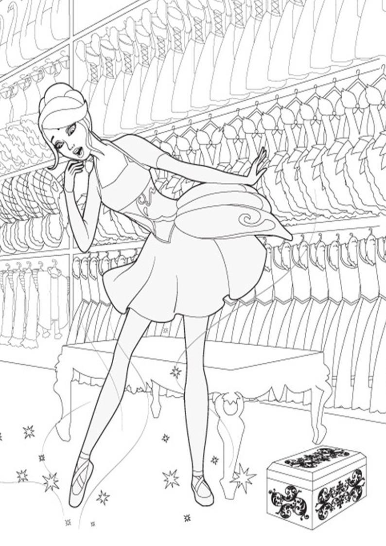 Kolorowanki Barbie Magiczne Baletki Obrazek Do Wydruku Nr 28