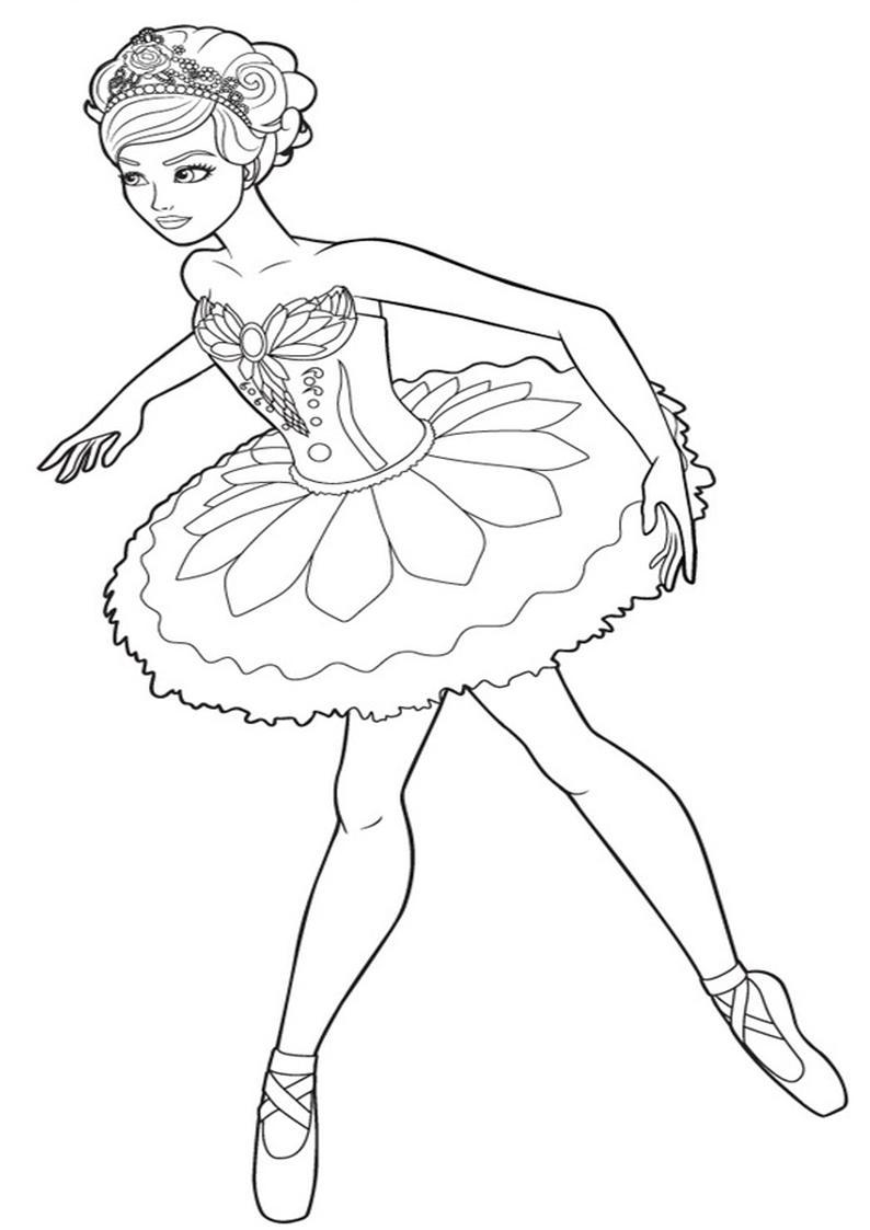 Kolorowanki Barbie Magiczne Baletki Obrazek Do Wydruku Nr 5