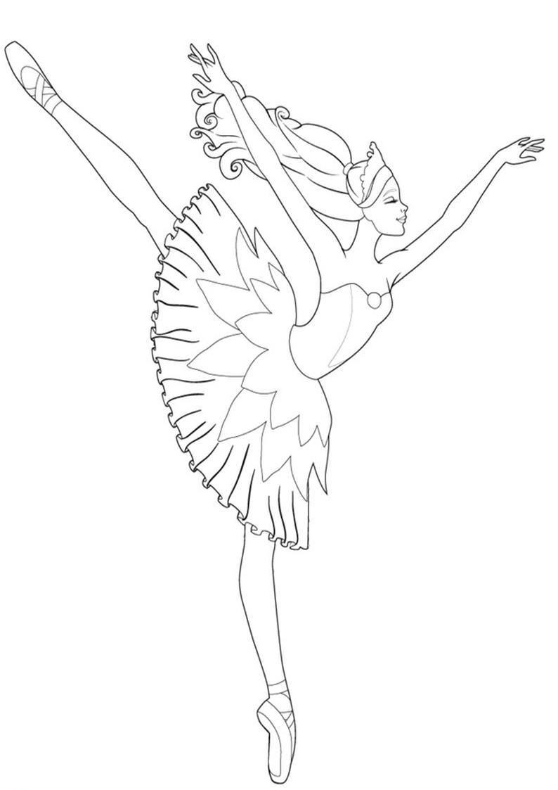 Kolorowanki Barbie Magiczne Baletki Obrazek Do Wydruku Nr 6