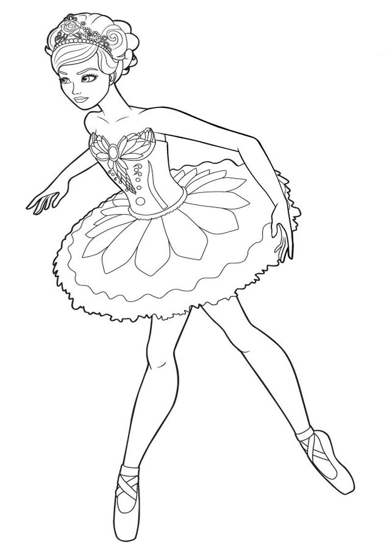 Kolorowanka Barbie Tancerka Baletnica Malowanka Dla Dziewczynek Nr 33