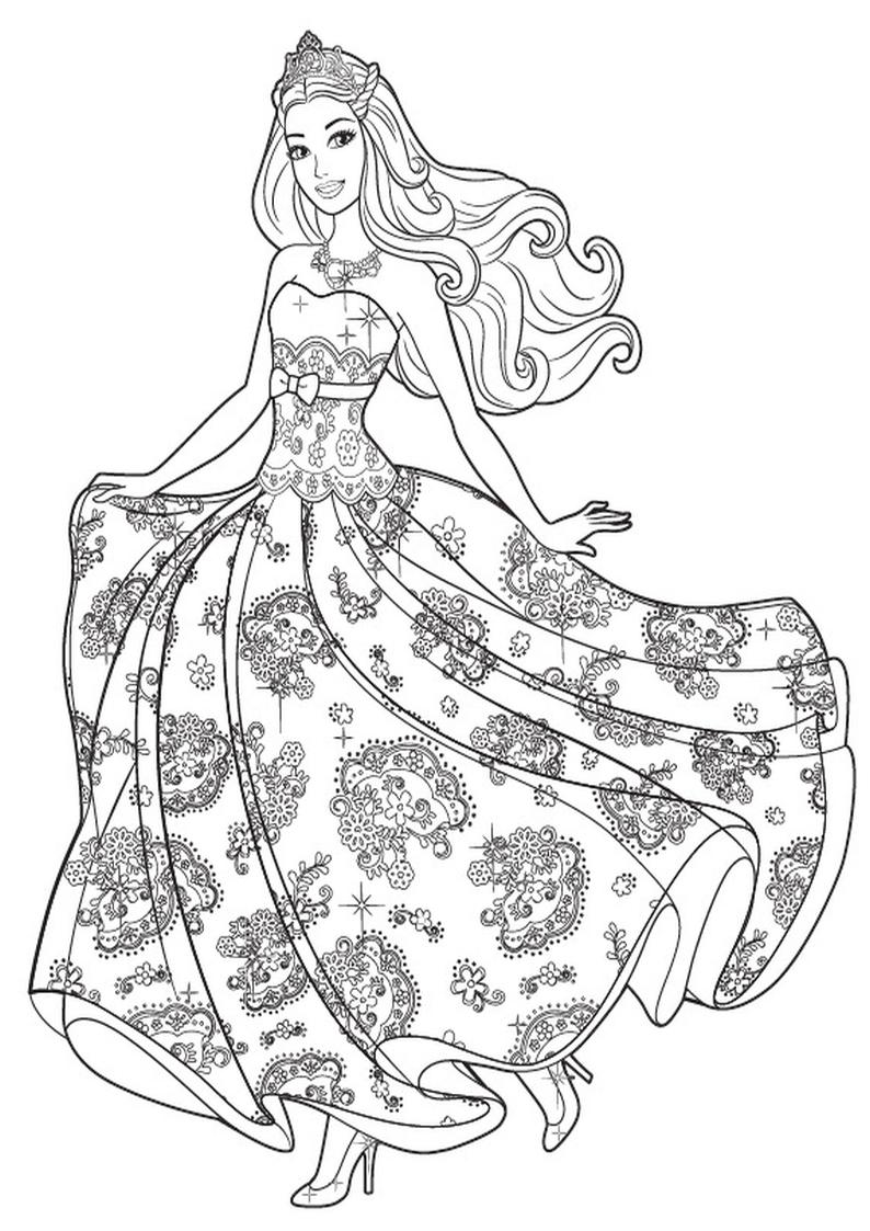 Kolorowanka Barbie Ksiezniczka Malowanka Do Wydruku Nr 6