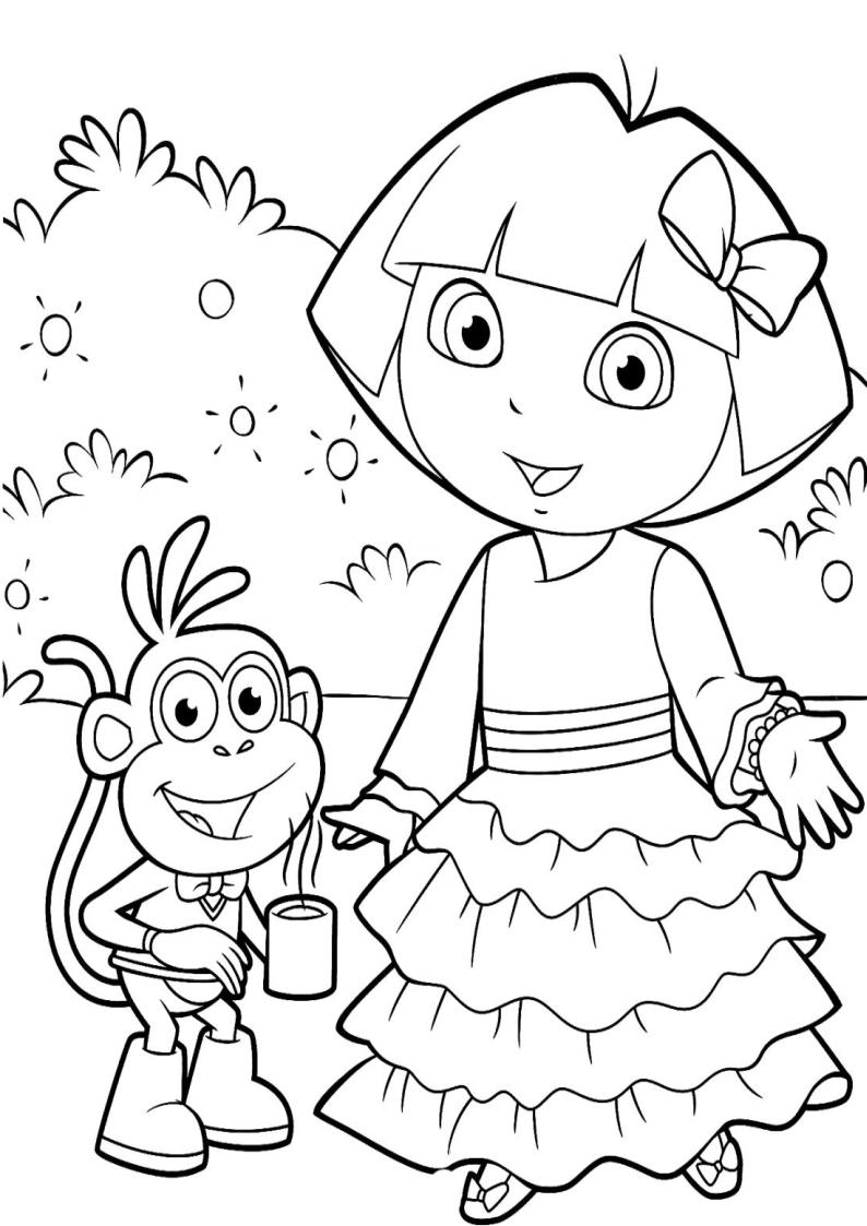 Kolorowanka Dora Poznaje Swiat Nr 4