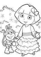 Kolorowanki Dora Poznaje Swiat Malowanki Do Wydruku