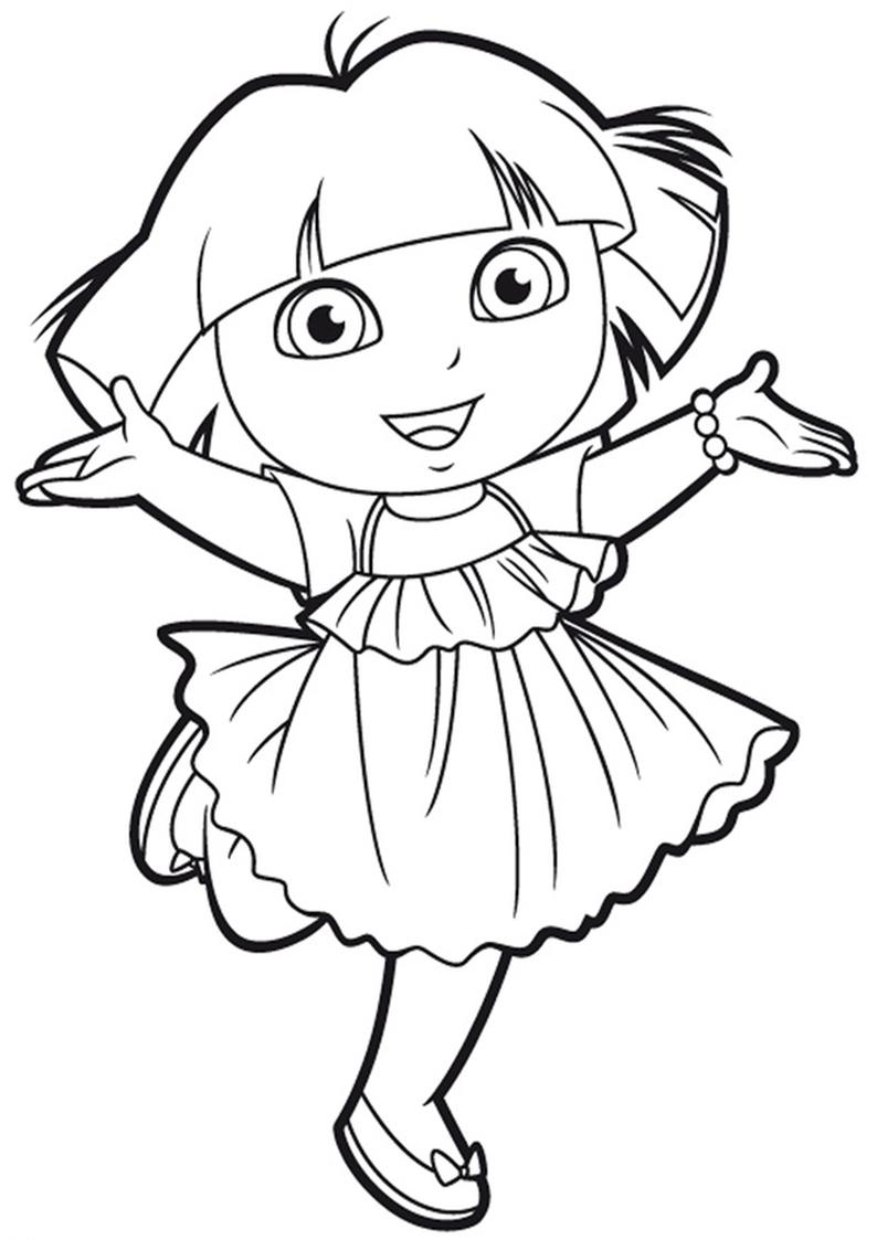 Kolorowanka Dora Poznaje Swiat Nr 9