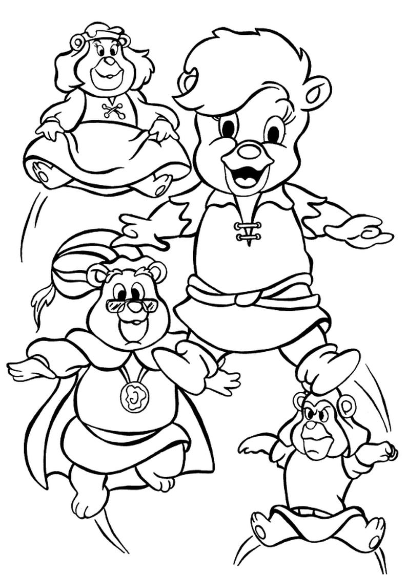 Kolorowanka Gumisie Disney Nr 2