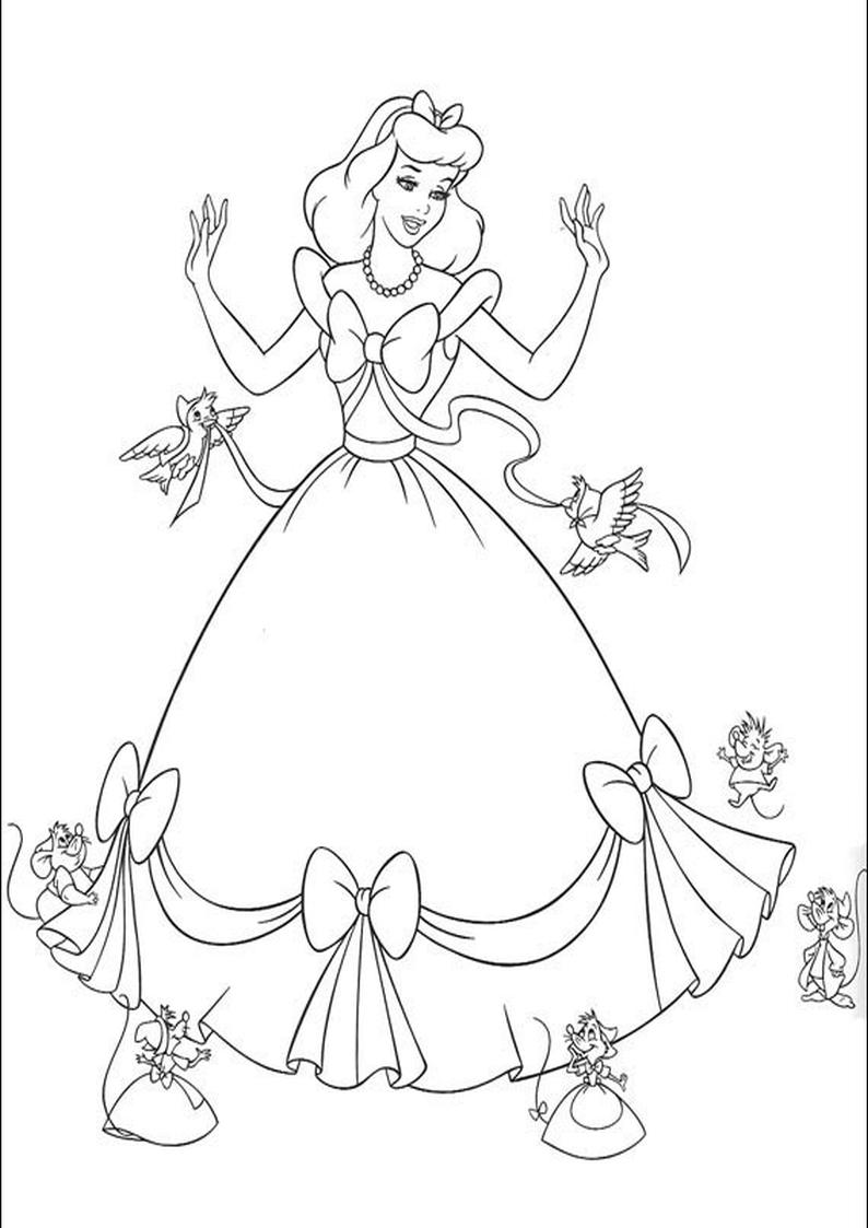 Kolorowanka Kopciuszek Disney Nr 5