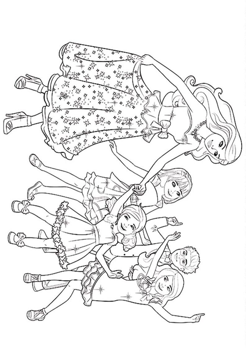 Kolorowanka Barbie W Krainie Kucykow Malowanka Do Wydruku Nr 28