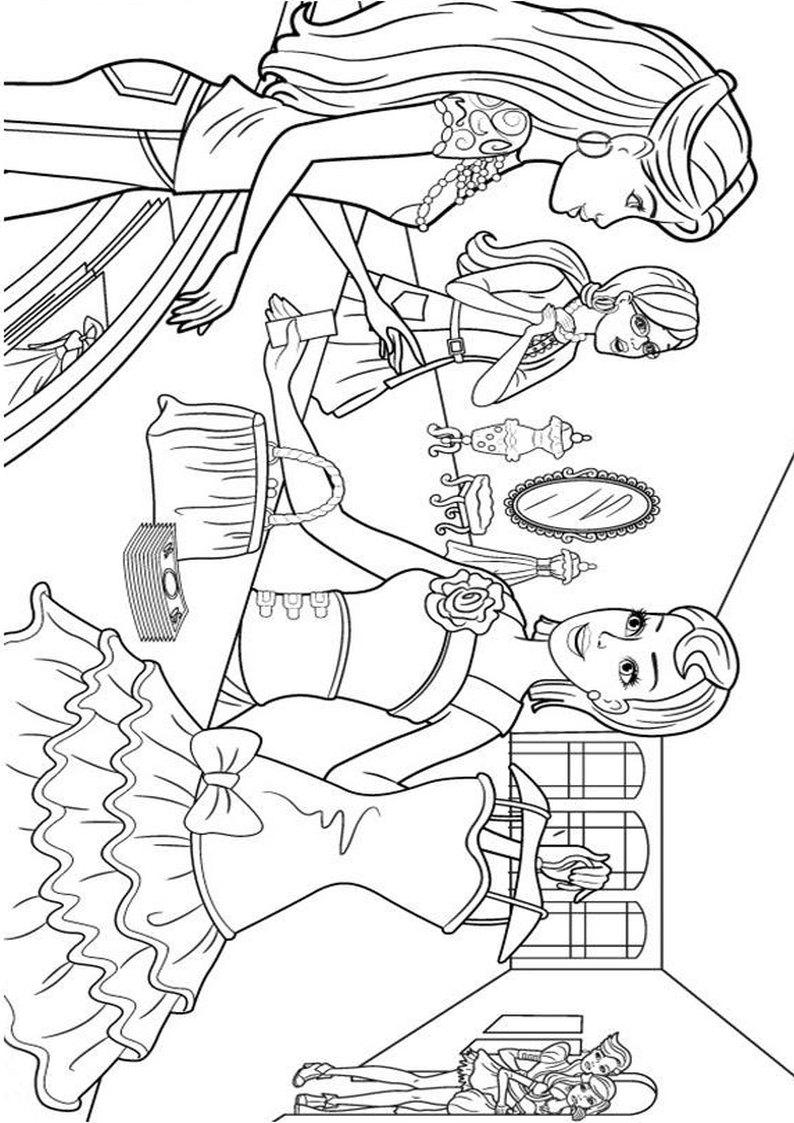 Kolorowanka Barbie W Swiecie Mody Dla Dziewczynek Do Wydruku Nr 9