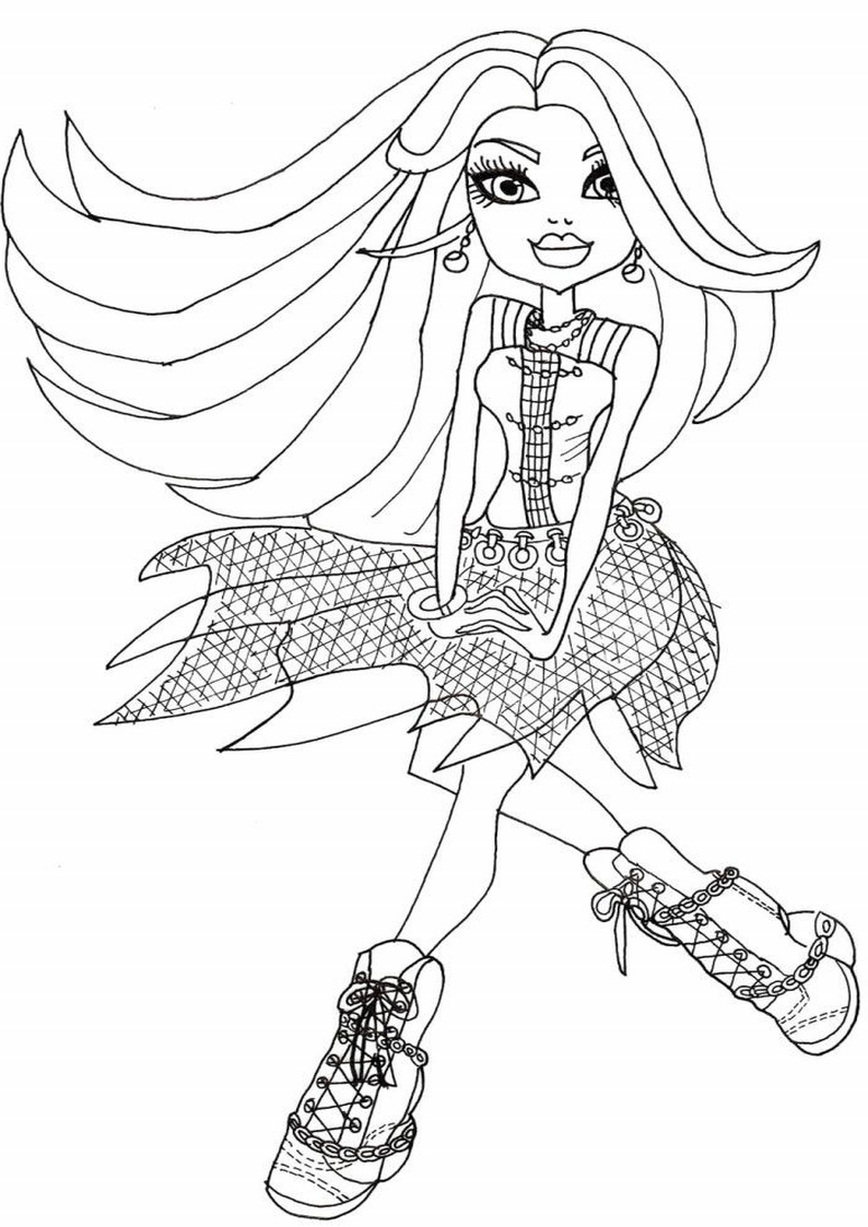 Spectra Vondergeist Malowanki Monster High Do Wydruku Nr 141