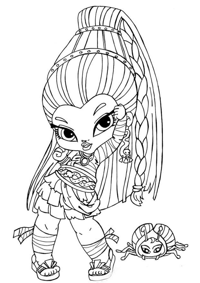 Kolorowanki Monster High Mala Nefera De Nile Wydruku Nr 173