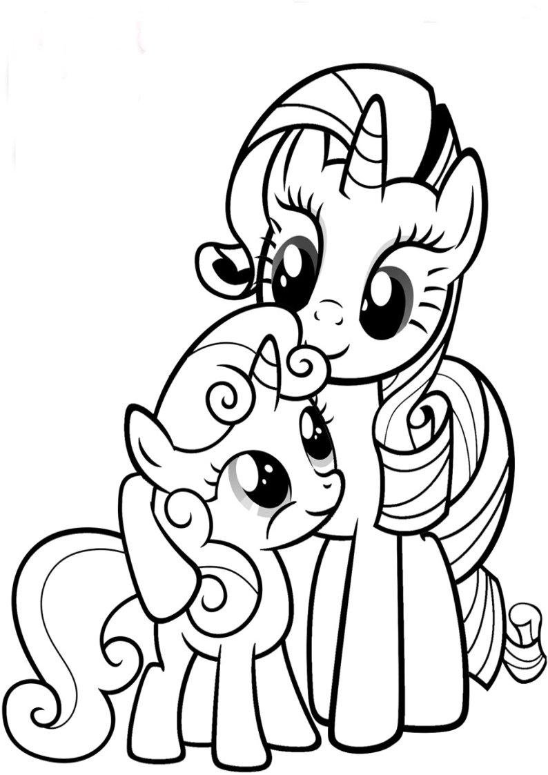Rarity I Sweetie Belle Kolorowanki My Little Pony Nr 10
