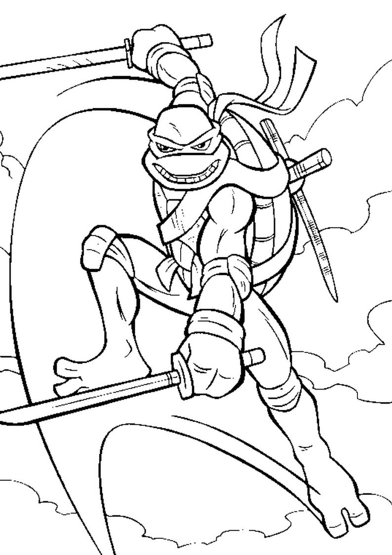Kolorowanka Wojownicze Zolwie Ninja Nr 63