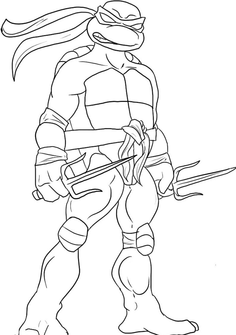 Kolorowanka Wojownicze Zolwie Ninja Nr 8