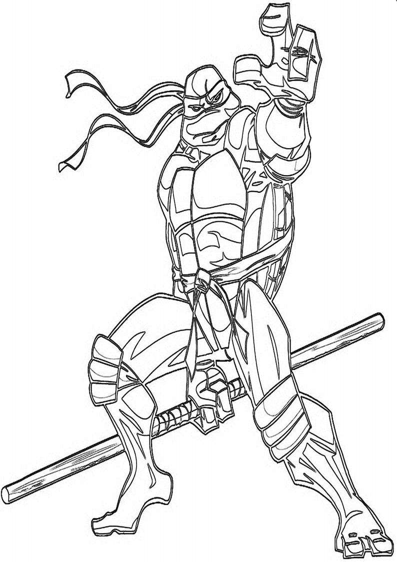 Kolorowanka Wojownicze Zolwie Ninja Nr 94