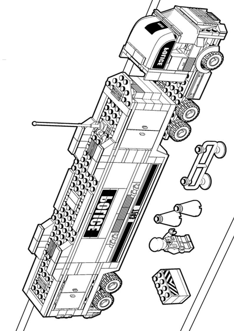 Do Wydruku Kolorowanka Lego City Ciezarowka 21