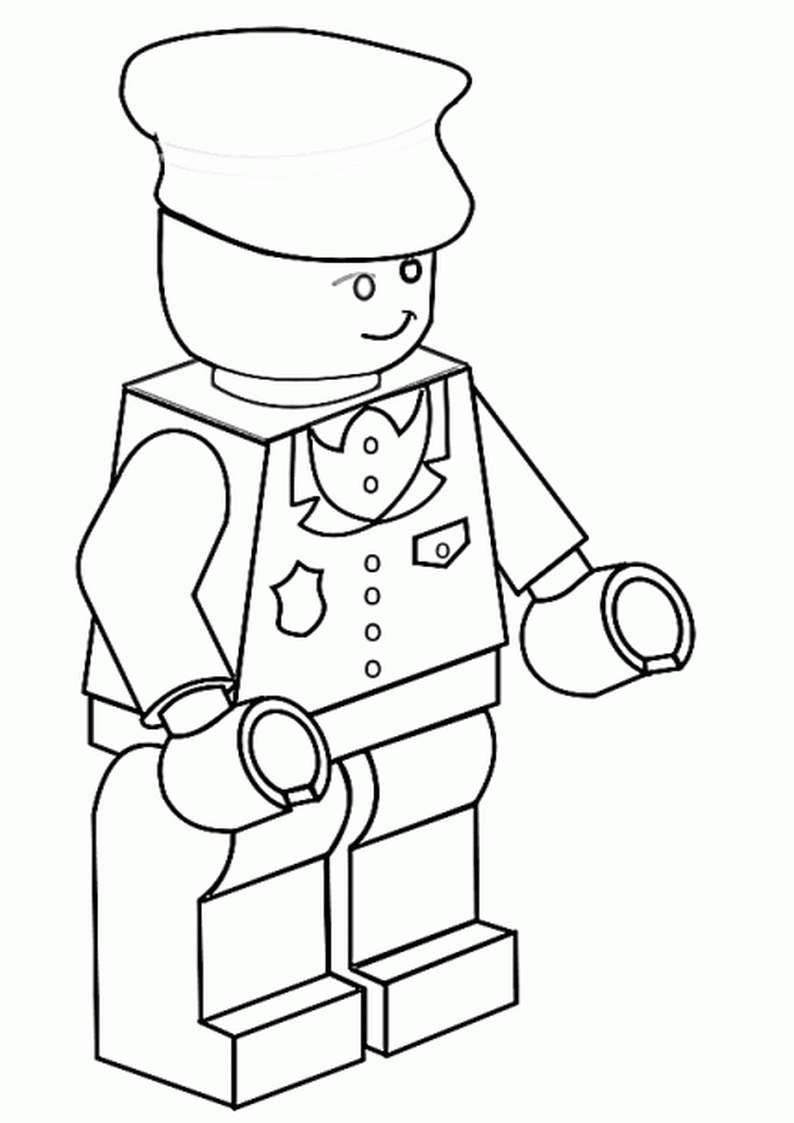 Do Wydruku Kolorowanka Lego Ludzik Policjant 8
