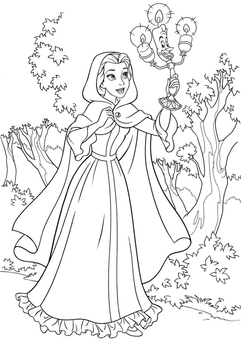 ... Piękna i Bestia, malowanka Bella do wydruku dla dzieci nr 13