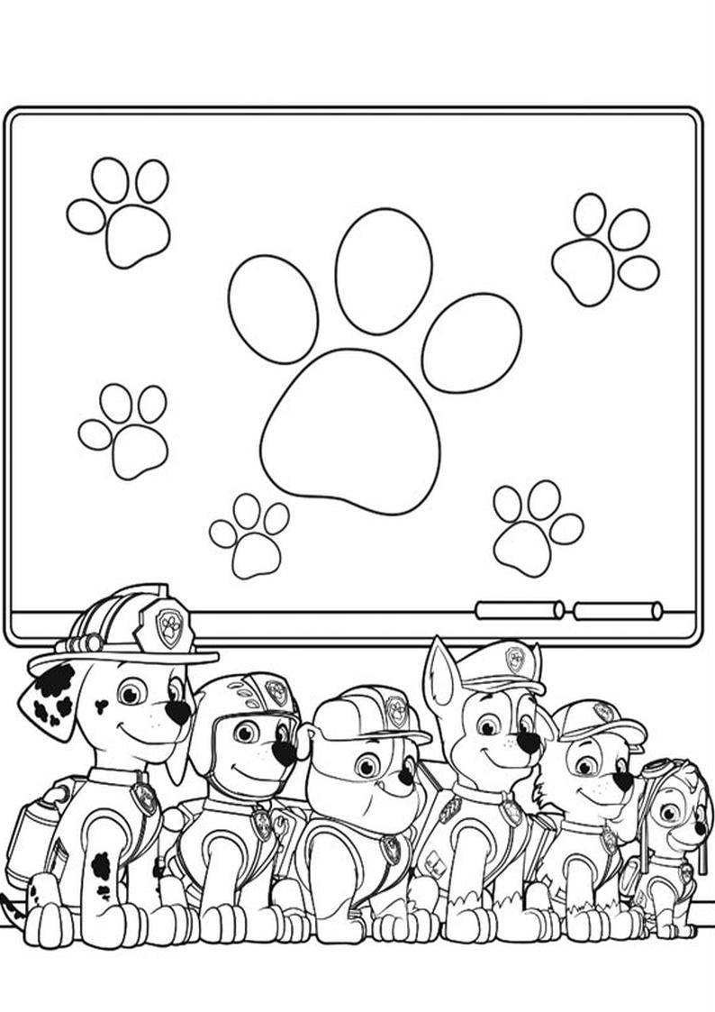 Do Wydruku Kolorowanka Psi Patrol Nr 11