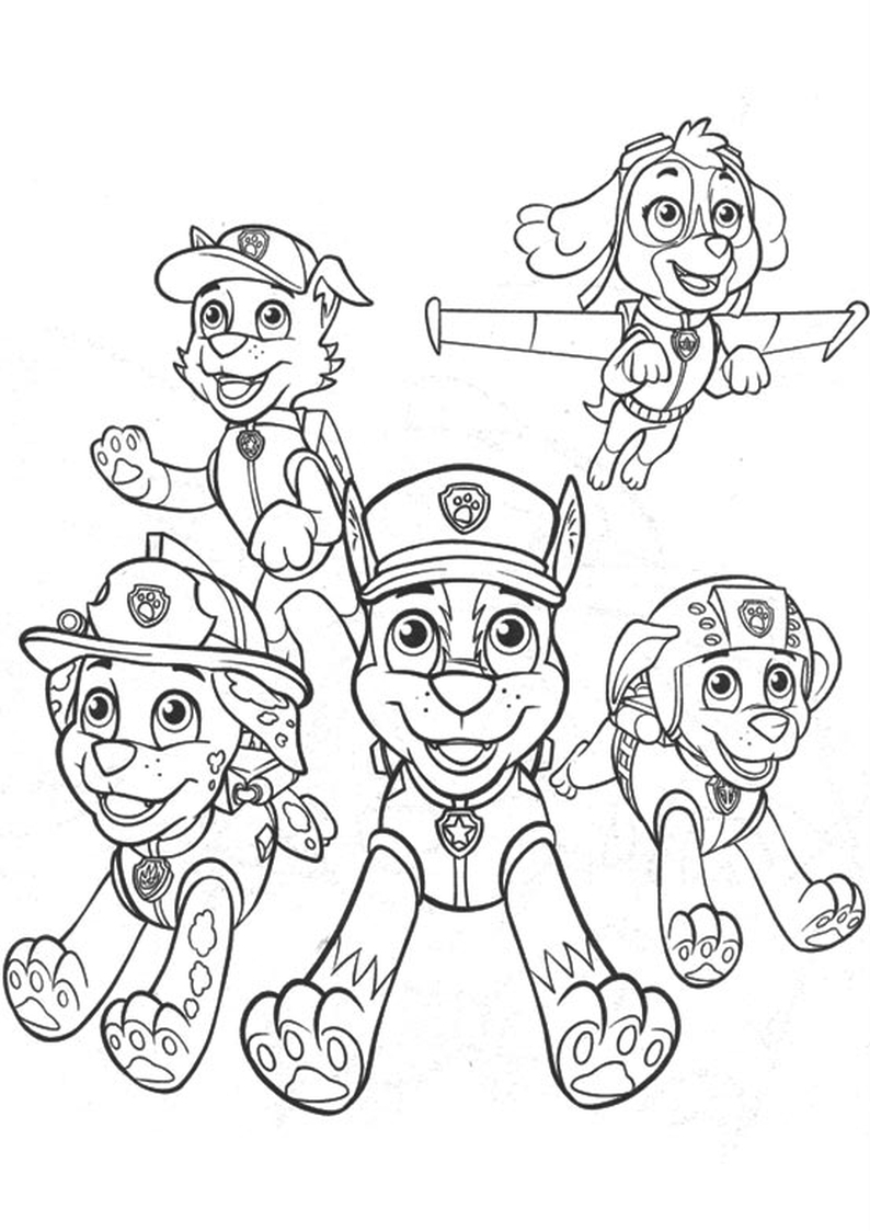 Free Coloring Pages Of Chase Stampa