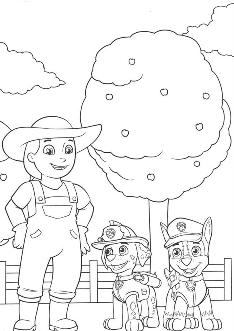 do wydruku kolorowanka psi patrol   malowanka dla dzieci do