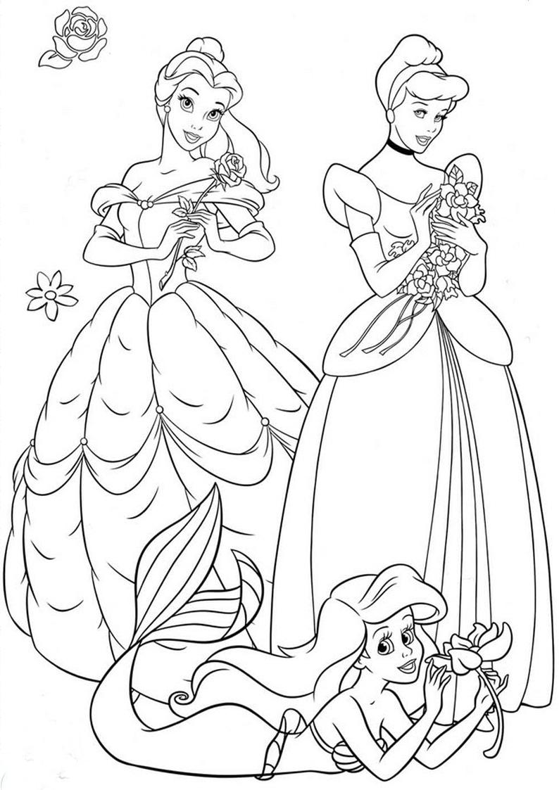 Kolorowanka Ksiezniczki Disney Nr 1