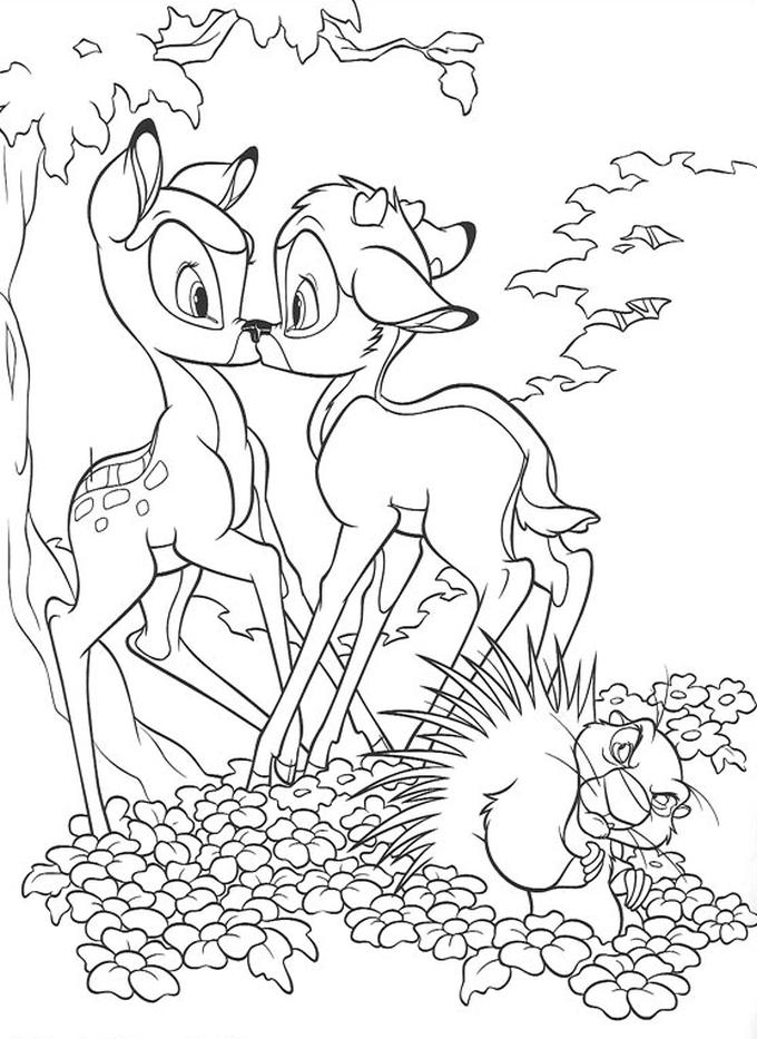 Kolorowanka Bambi Malowanka Do Wydruku Nr 15