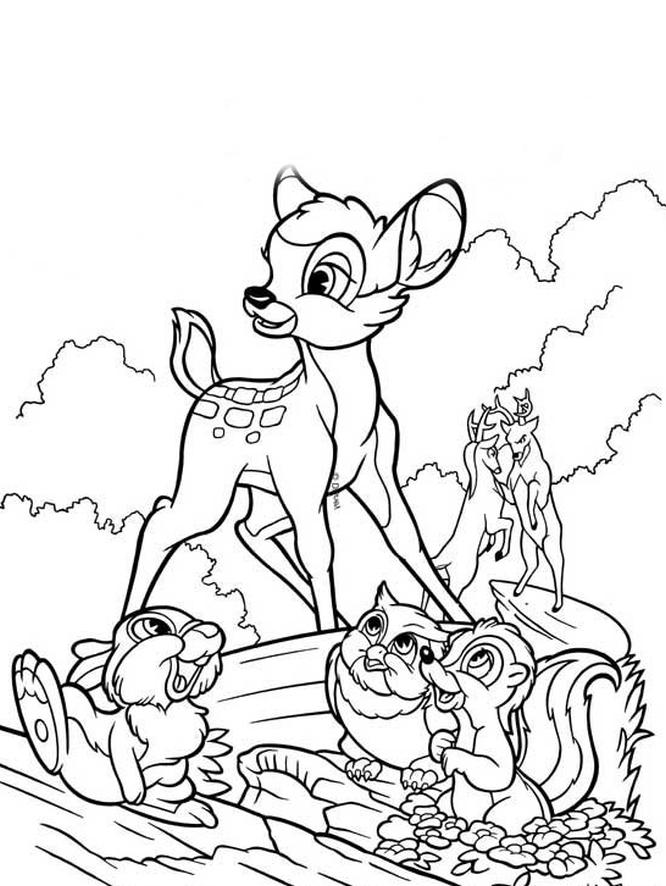 Kolorowanki Bambi Darmowe Kolorowanki Do Druku Bambi