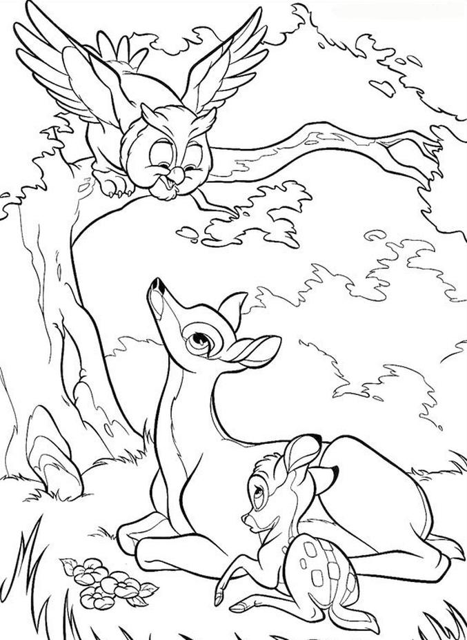 Kolorowanka Bambi Malowanka Do Wydruku Nr 50
