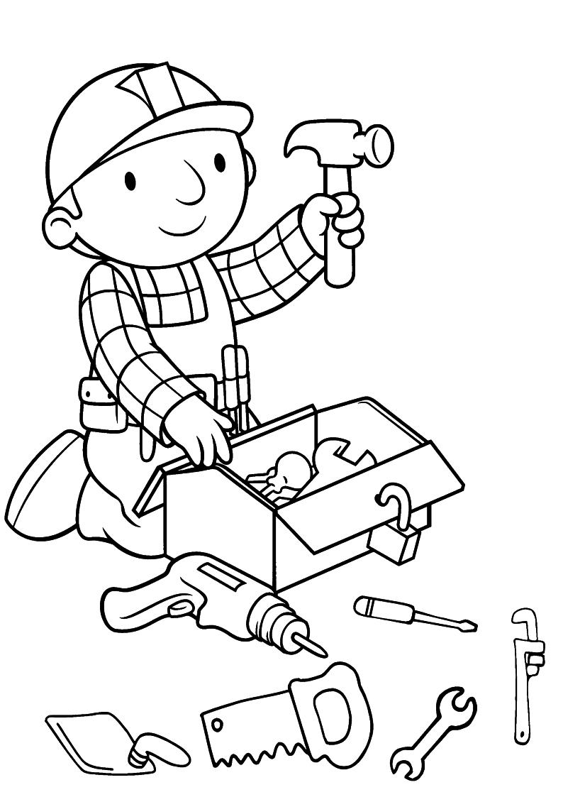 Kolorowanka Bob Budowniczy Gotowy Do Pracy Nr 11