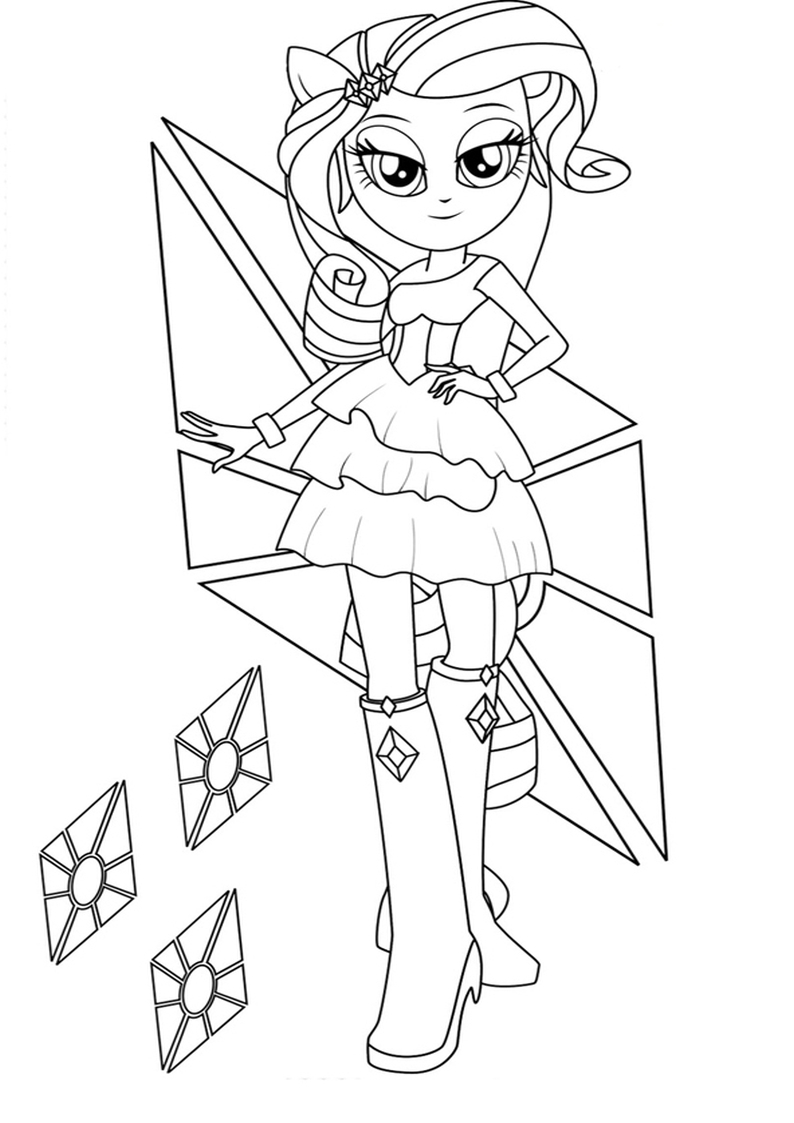 Free Equestria Rarity Coloring Pages Free Equestria Coloring Pages