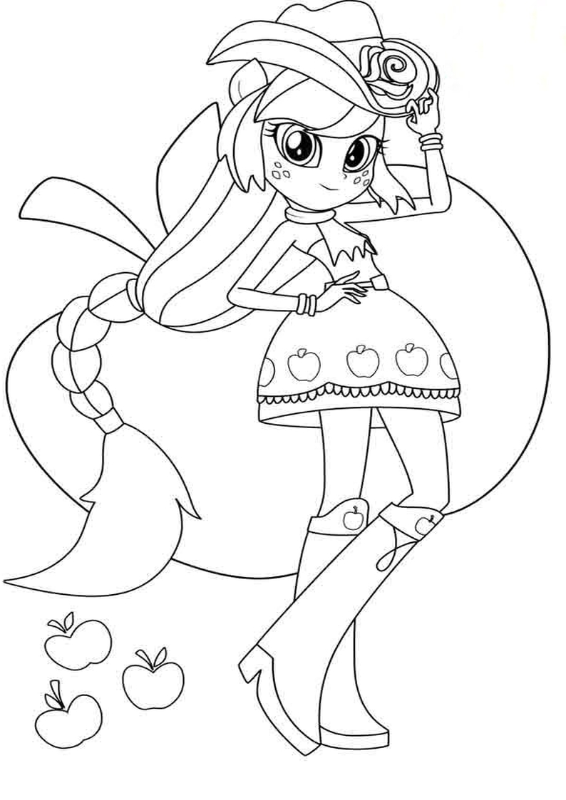Kolorowanka Apple Jack Equestria Girls Malowanka Nr 39