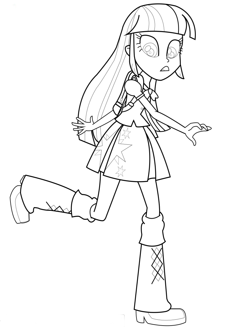 sunset shimmer human coloring pages - photo#15