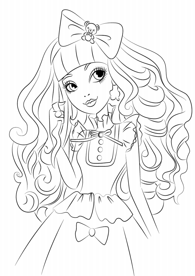 Kolorowanka Ever After High Blondie Lockes Nr 1