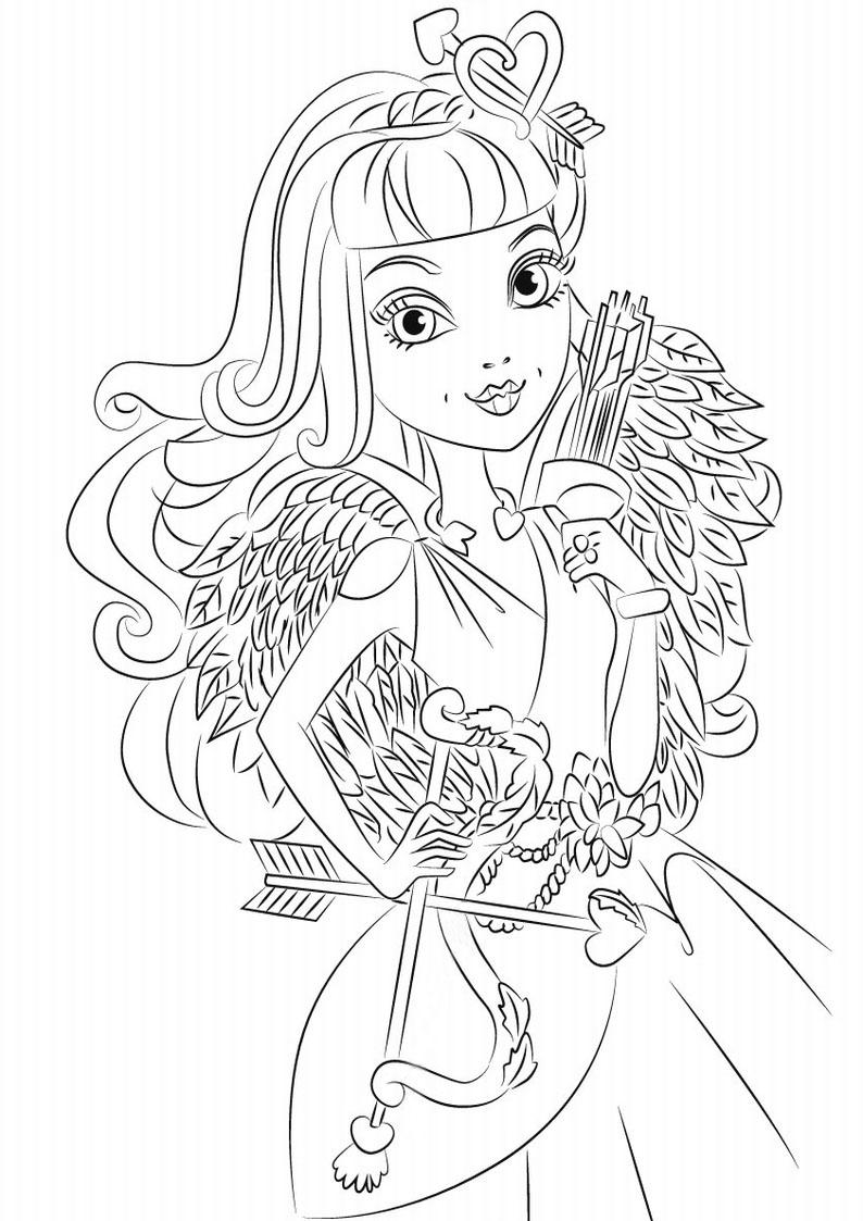 Kolorowanka Ever After High C A Cupid Nr 2