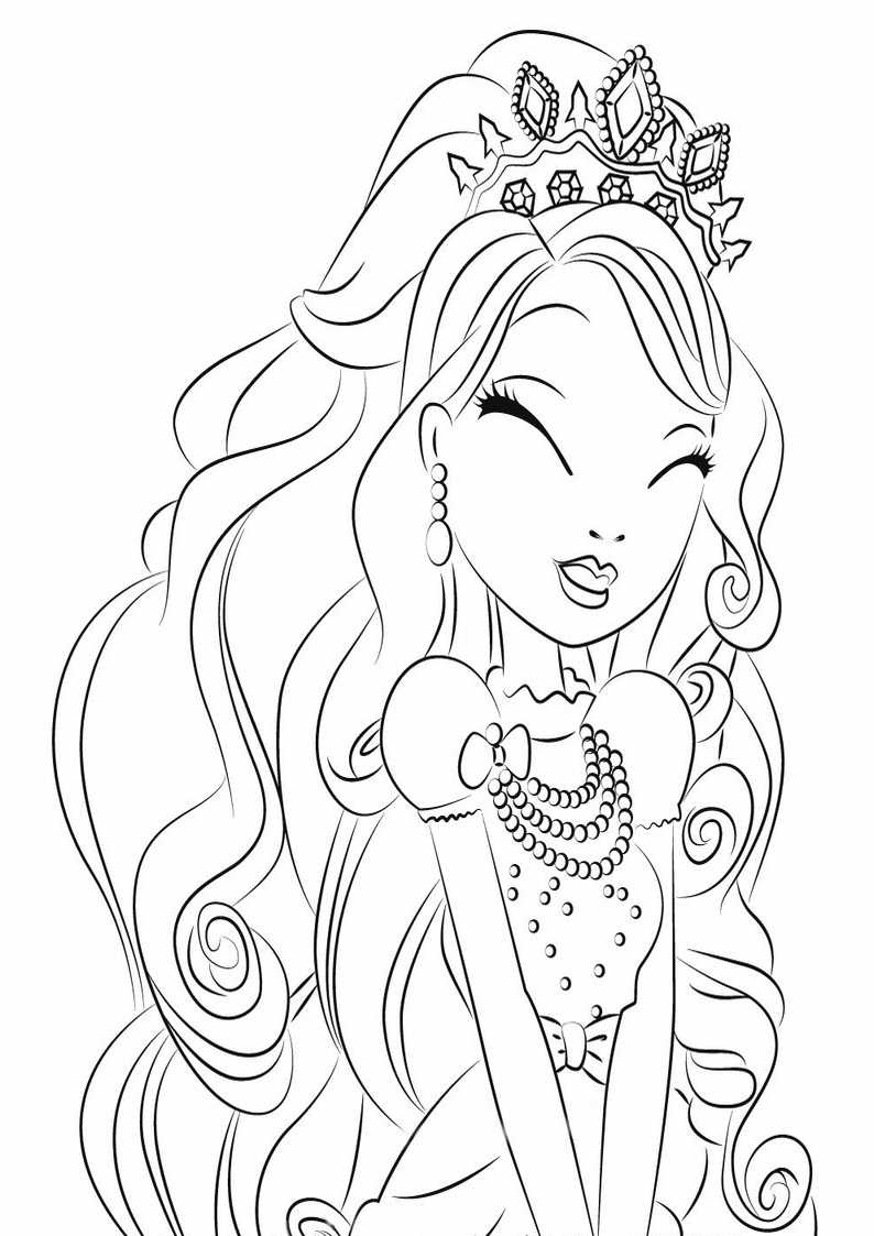 Images Of Ever After High Coloring Pages