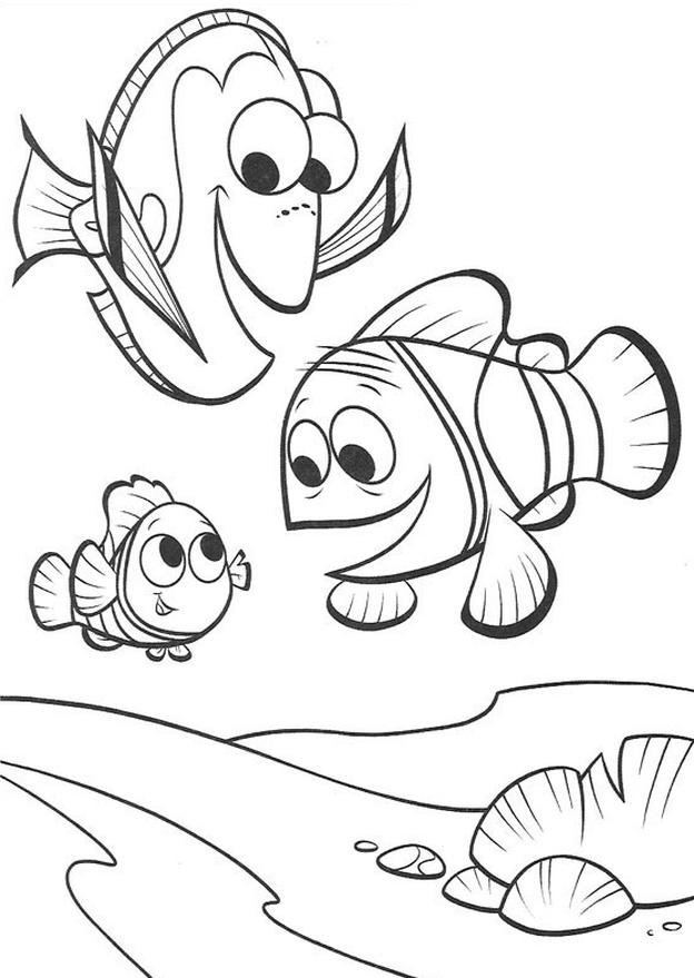 Kolorowanka Gdzie Jest Nemo Malowanka Do Wydruku Nr 4