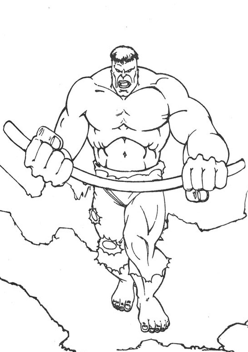 Kolorowanka Hulk Avengers Malowanka Nr 19