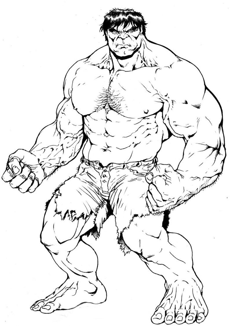 Kolorowanka Hulk Avengers Malowanka Nr 2