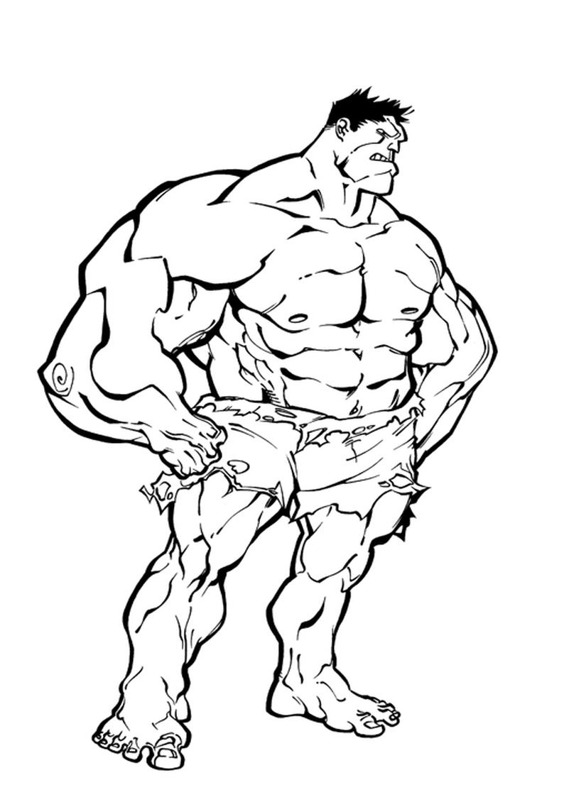 Kolorowanka Hulk Avengers Malowanka Nr 6