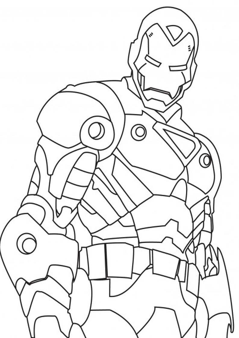 Kolorowanka Iron Man Malowanka Nr 10