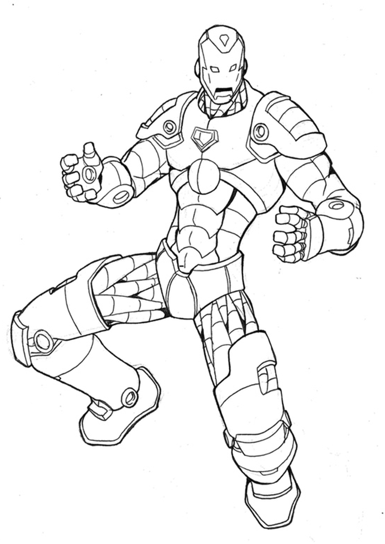 Kolorowanka Iron Man Malowanka Nr 24