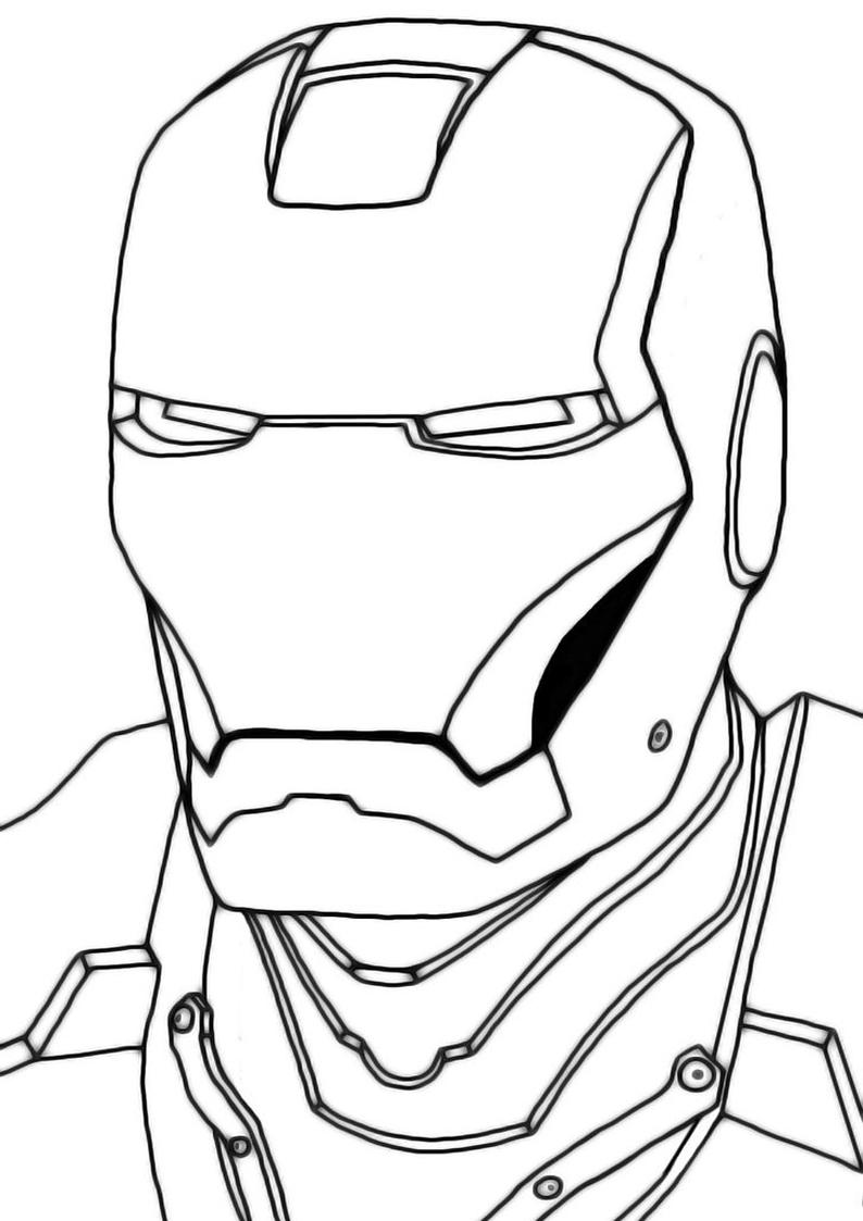 Kolorowanka Iron Man Malowanka Nr 26