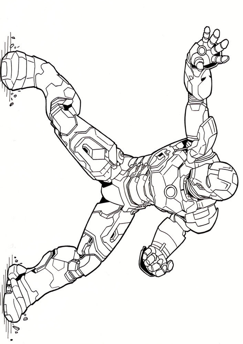 Kolorowanka Iron Man Malowanka Nr 3