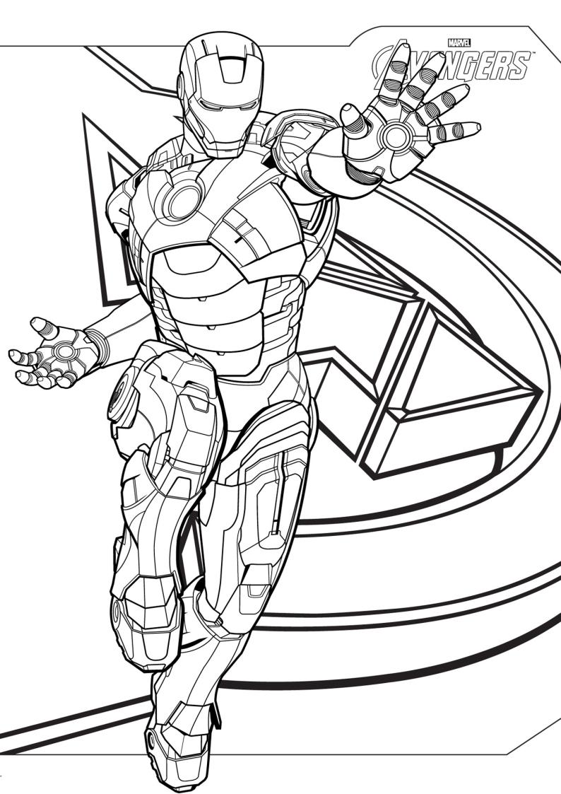 Kolorowanka Iron Man Malowanka Nr 4