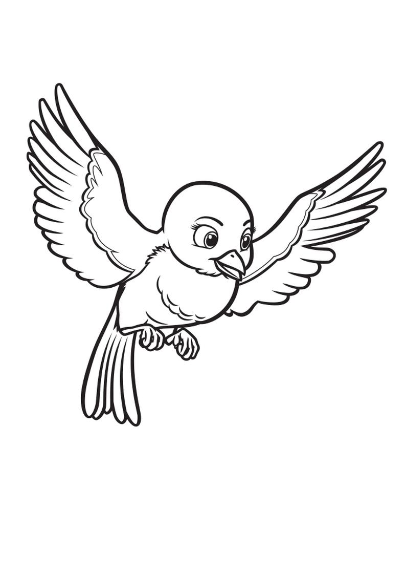 Kolorowanka Ptaszek Jej Wysokosc Zosia Nr 33