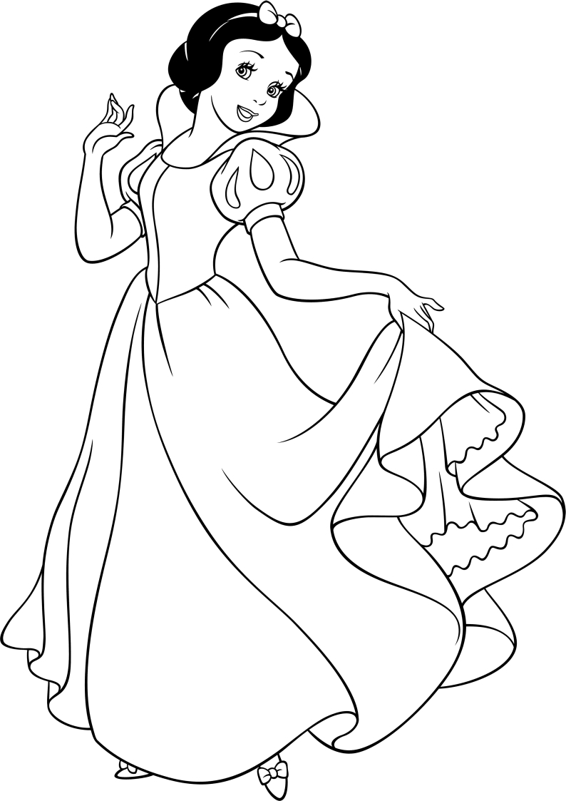 Kolorowanka Krolewna Sniezka Disney Nr 11