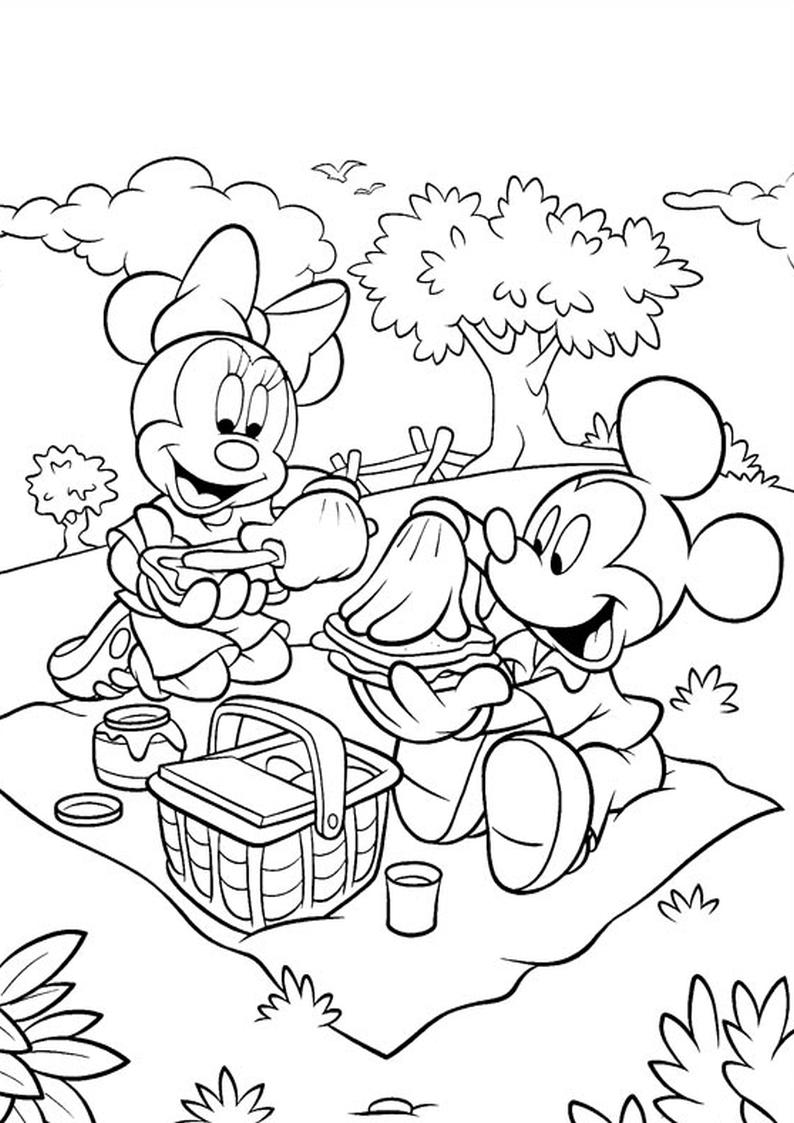 foto de Kolorowanka Myszka Miki i Minnie na pikniku nr 8